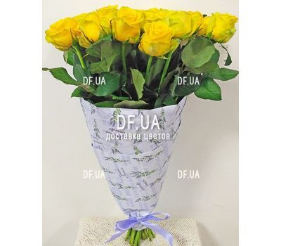 """Bouquet of 19 yellow roses - view 3"" in the online flower shop df.ua"