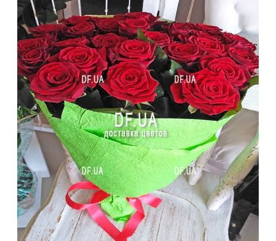 """Bouquet of 25 red roses - wiev 1"" in the online flower shop df.ua"