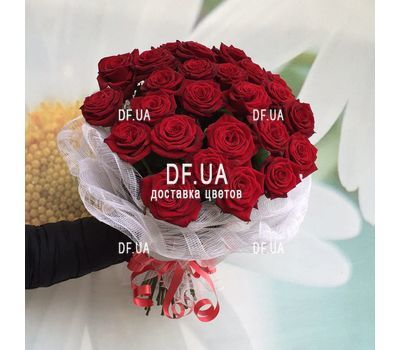 """Bouquet of 25 red roses - wiev 3"" in the online flower shop df.ua"