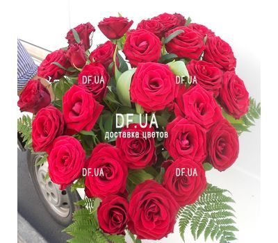"""Bouquet of 25 red roses - wiev 4"" in the online flower shop df.ua"