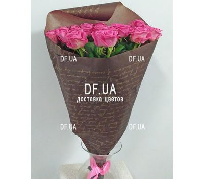 """Bouquet of 25 pink roses - wiev 4"" in the online flower shop df.ua"