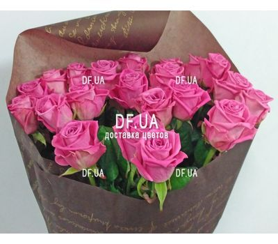 """Bouquet of 25 pink roses - wiev 5"" in the online flower shop df.ua"