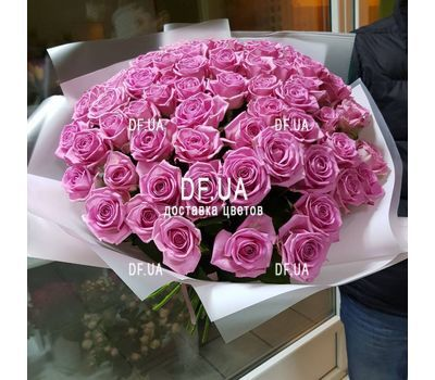 """Bouquet of 45 pink roses - view 1"" in the online flower shop df.ua"