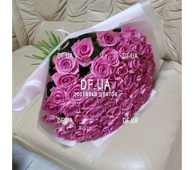 """Bouquet of 45 pink roses - view 2"" in the online flower shop df.ua"