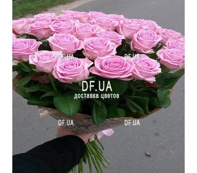 """Bouquet of 45 pink roses - view 3"" in the online flower shop df.ua"