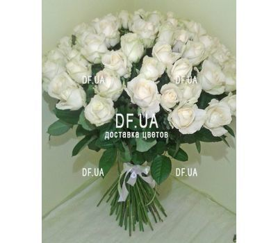 """A bouquet of 51 white roses - view 3"" in the online flower shop df.ua"
