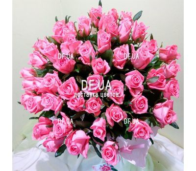 """""""Bouquet of 51 pink roses - view 1"""" in the online flower shop df.ua"""