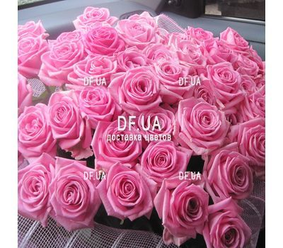 """Bouquet of 55 pink roses - - view 1"" in the online flower shop df.ua"