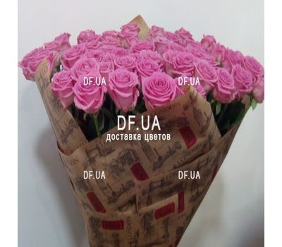 """Bouquet of 55 pink roses - - view 3"" in the online flower shop df.ua"