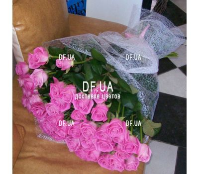 """Bouquet of 55 pink roses - - view 4"" in the online flower shop df.ua"