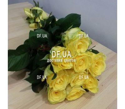 """Sunny bouquet of 9 yellow roses - view 1"" in the online flower shop df.ua"