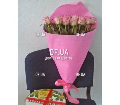 """""""Букет из розовых роз - вид 4"""" в интернет-магазине цветов df.ua"""