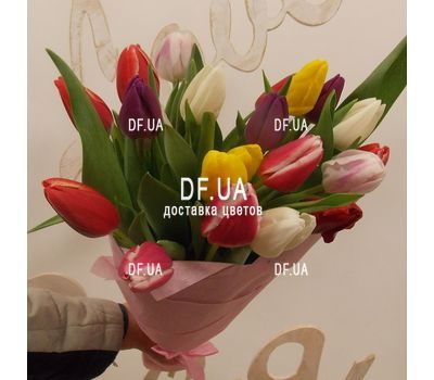 """""""Bouquet of tulips - view 2"""" in the online flower shop df.ua"""