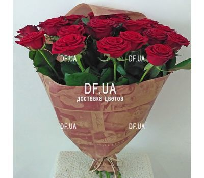 """Good bouquet of red roses - view 1"" in the online flower shop df.ua"