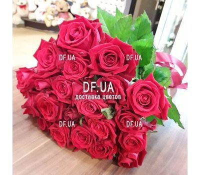 """Good bouquet of red roses - view 2"" in the online flower shop df.ua"