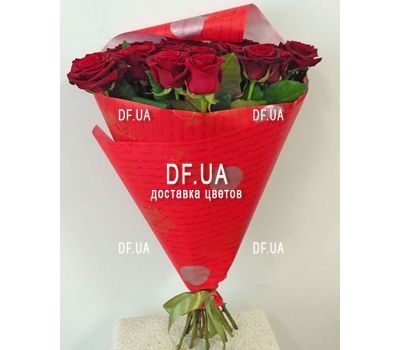 """Good bouquet of red roses - view 3"" in the online flower shop df.ua"