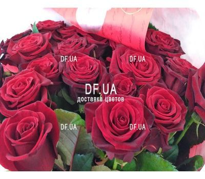 """Good bouquet of red roses - view 4"" in the online flower shop df.ua"
