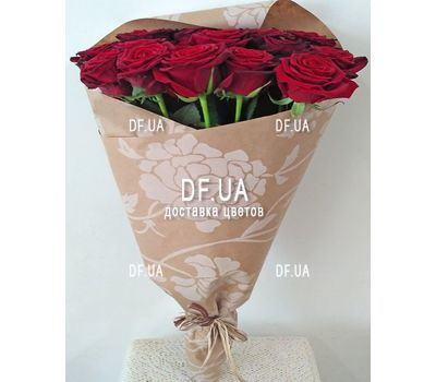 """Good bouquet of red roses - view 5"" in the online flower shop df.ua"