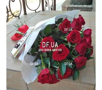 """A bouquet of red roses - view 1"" in the online flower shop df.ua"