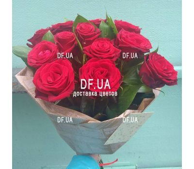 """A bouquet of red roses - view 2"" in the online flower shop df.ua"
