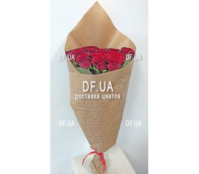 """A bouquet of red roses - view 3"" in the online flower shop df.ua"