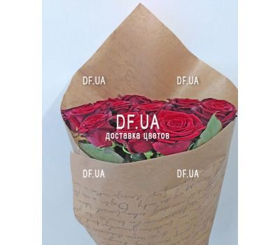 """A bouquet of red roses - view 4"" in the online flower shop df.ua"