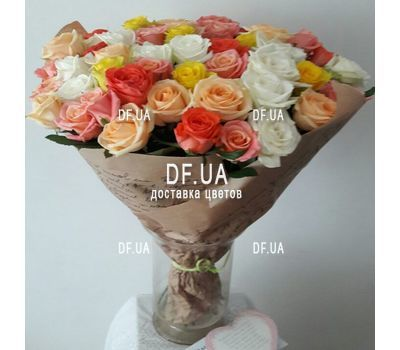 """A bouquet of roses for an anniversary of 55 years - - view 1"" in the online flower shop df.ua"