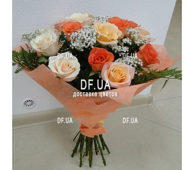 """A bouquet of roses of different colors - view 3"" in the online flower shop df.ua"
