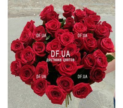 """Bouquet of chic roses - view 1"" in the online flower shop df.ua"
