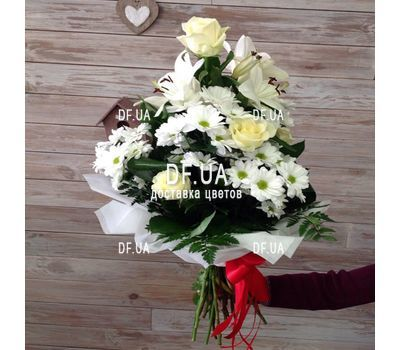 """Bouquet of light colors - view 1"" in the online flower shop df.ua"