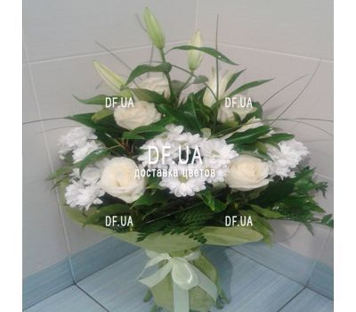 """Bouquet of light colors - view 3"" in the online flower shop df.ua"