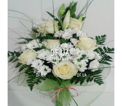 """Bouquet of light colors - view 4"" in the online flower shop df.ua"