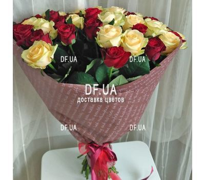 """Wonderful bouquet of roses - view 1"" in the online flower shop df.ua"