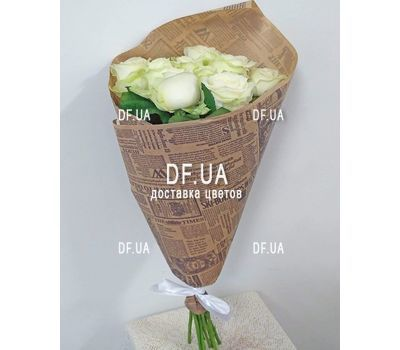 """Nine white roses - view 2"" in the online flower shop df.ua"