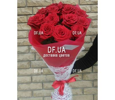 """Classic bouquet of roses - view 4"" in the online flower shop df.ua"