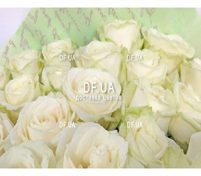 """Beautiful white roses - wiev 2"" in the online flower shop df.ua"
