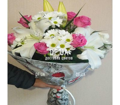 """Beautiful flowers happy birthday woman - view 1"" in the online flower shop df.ua"