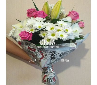 """Beautiful flowers happy birthday woman - view 2"" in the online flower shop df.ua"