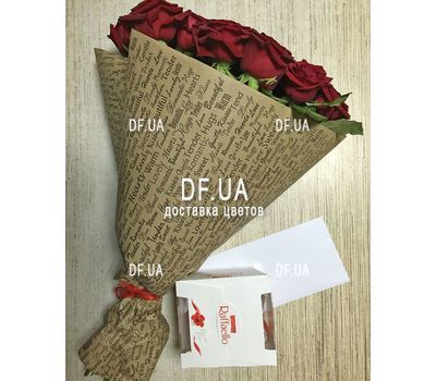 """Red roses bouquet - view 3"" in the online flower shop df.ua"