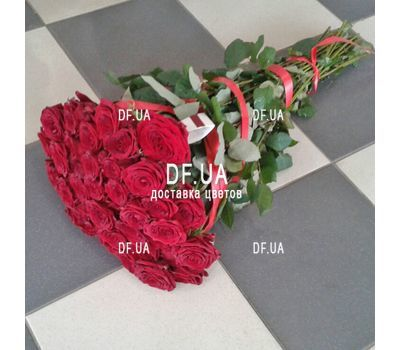 """Red roses bouquet - view 4"" in the online flower shop df.ua"