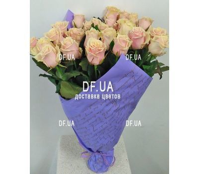 """""""Кремовые розы на короткой ножке - вид 1"""" в интернет-магазине цветов df.ua"""