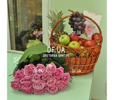 """Gently pink roses - view 1"" in the online flower shop df.ua"