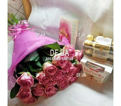 """Gently pink roses - view 2"" in the online flower shop df.ua"