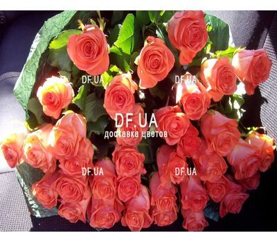 """Orange bouquet of roses - view 1"" in the online flower shop df.ua"