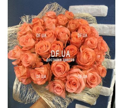 """Orange bouquet of roses - view 2"" in the online flower shop df.ua"