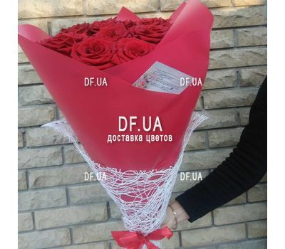 """Popular bouquet of roses - view 2"" in the online flower shop df.ua"