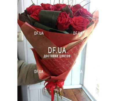 """Popular bouquet of roses - view 3"" in the online flower shop df.ua"