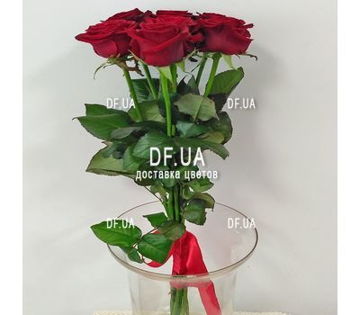 """Simple bouquet of 7 roses view 4"" in the online flower shop df.ua"
