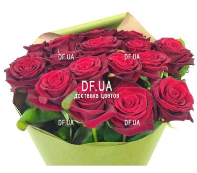 """Simple bouquet of roses - view 3"" in the online flower shop df.ua"