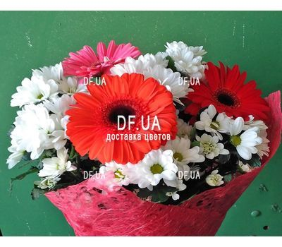 """A real bouquet of flowers - view 1"" in the online flower shop df.ua"
